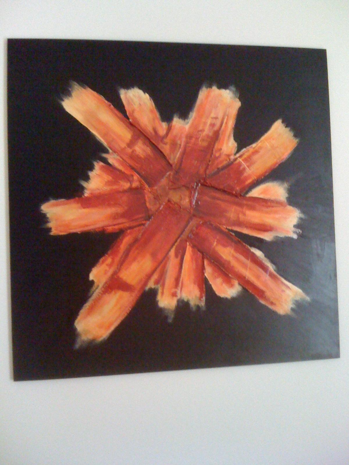 dipinto acrilico tecnica multimaterica