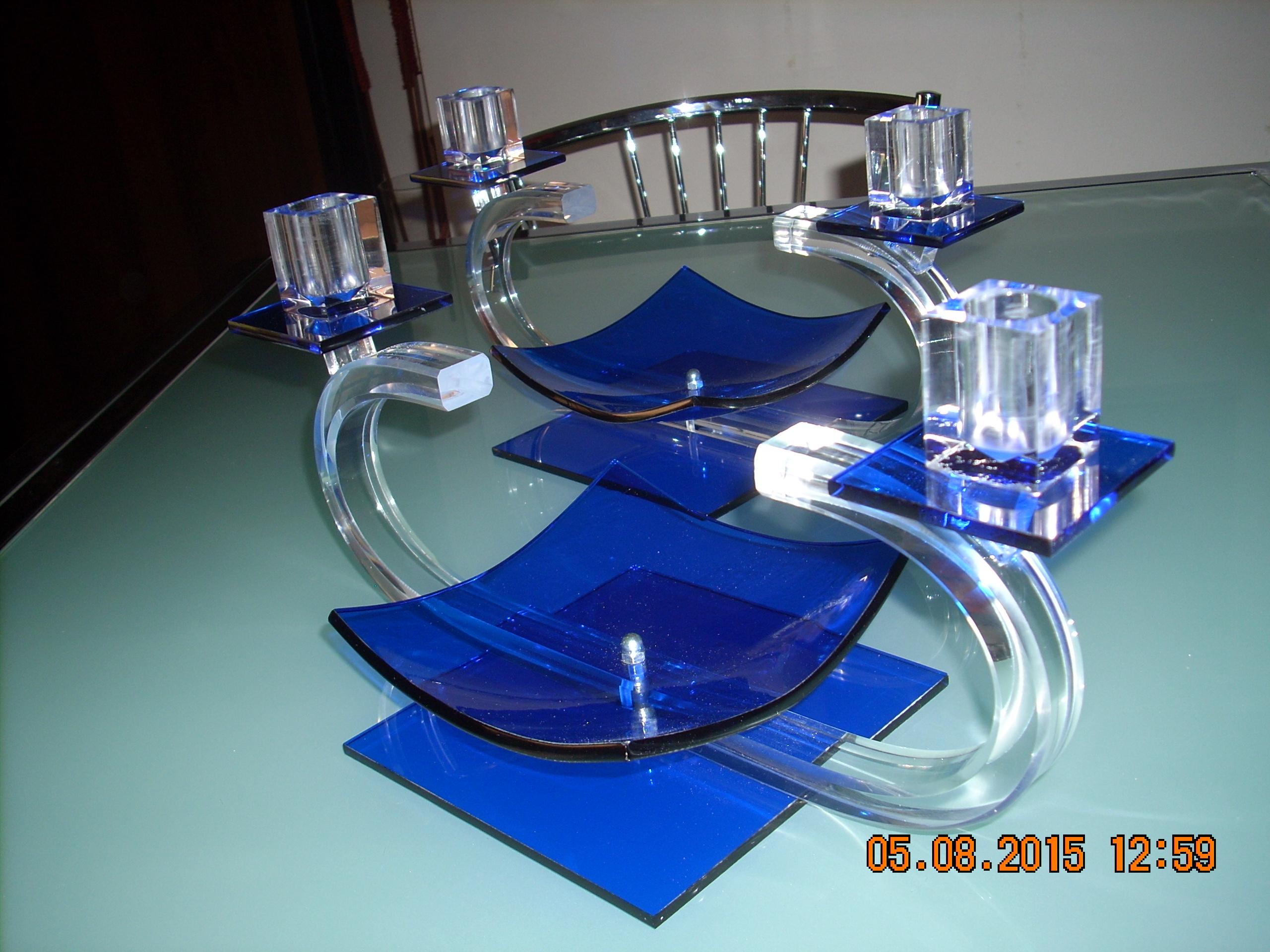 Candelieri in plexiglas
