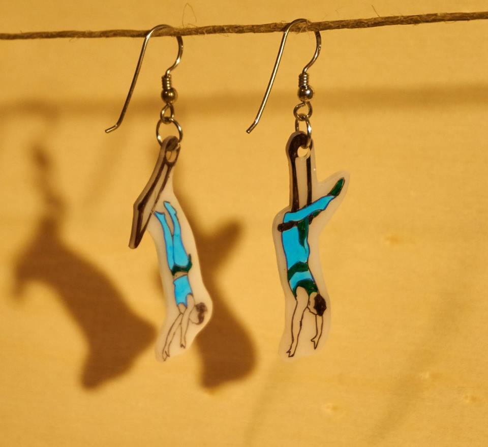 orecchini trapezisti circo