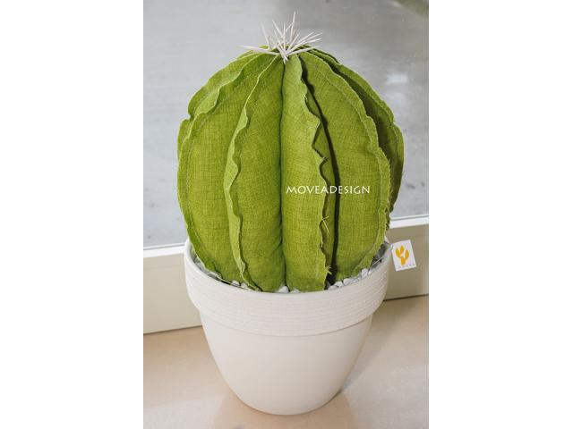 Pianta artificiale in tessuto, finto cactus, pianta ornamentale.