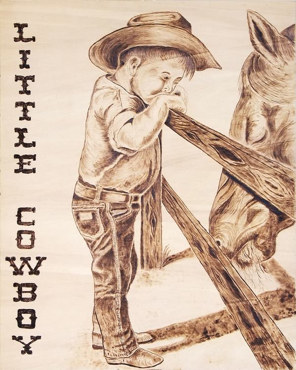 Little  cowboy   40  x 50 h18mm