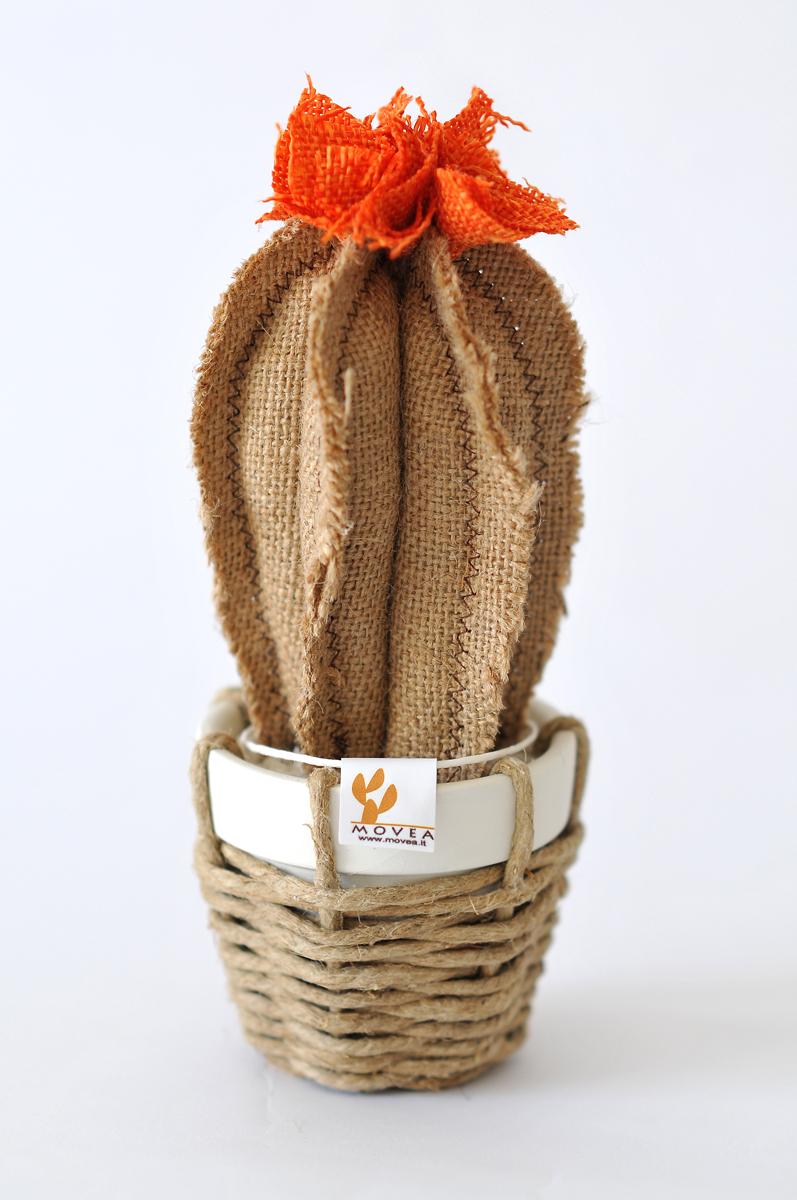 Piantina artificiale in juta - cactus finto