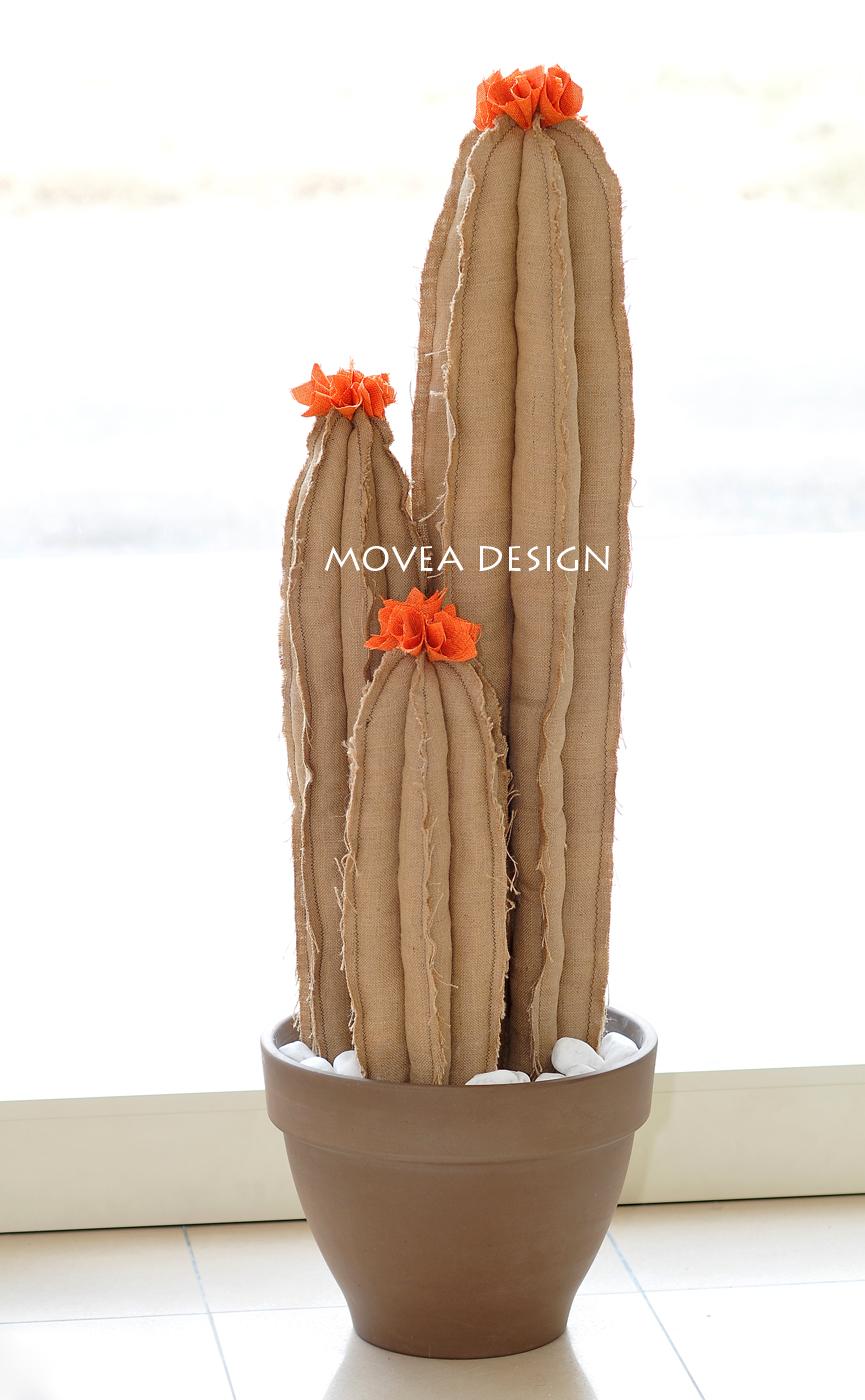 Pianta tris artificiale in tessuto - cactus artificiale realizzato a mano