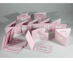 Set di 15 biglietti confetti bomboniere battesimo comunione