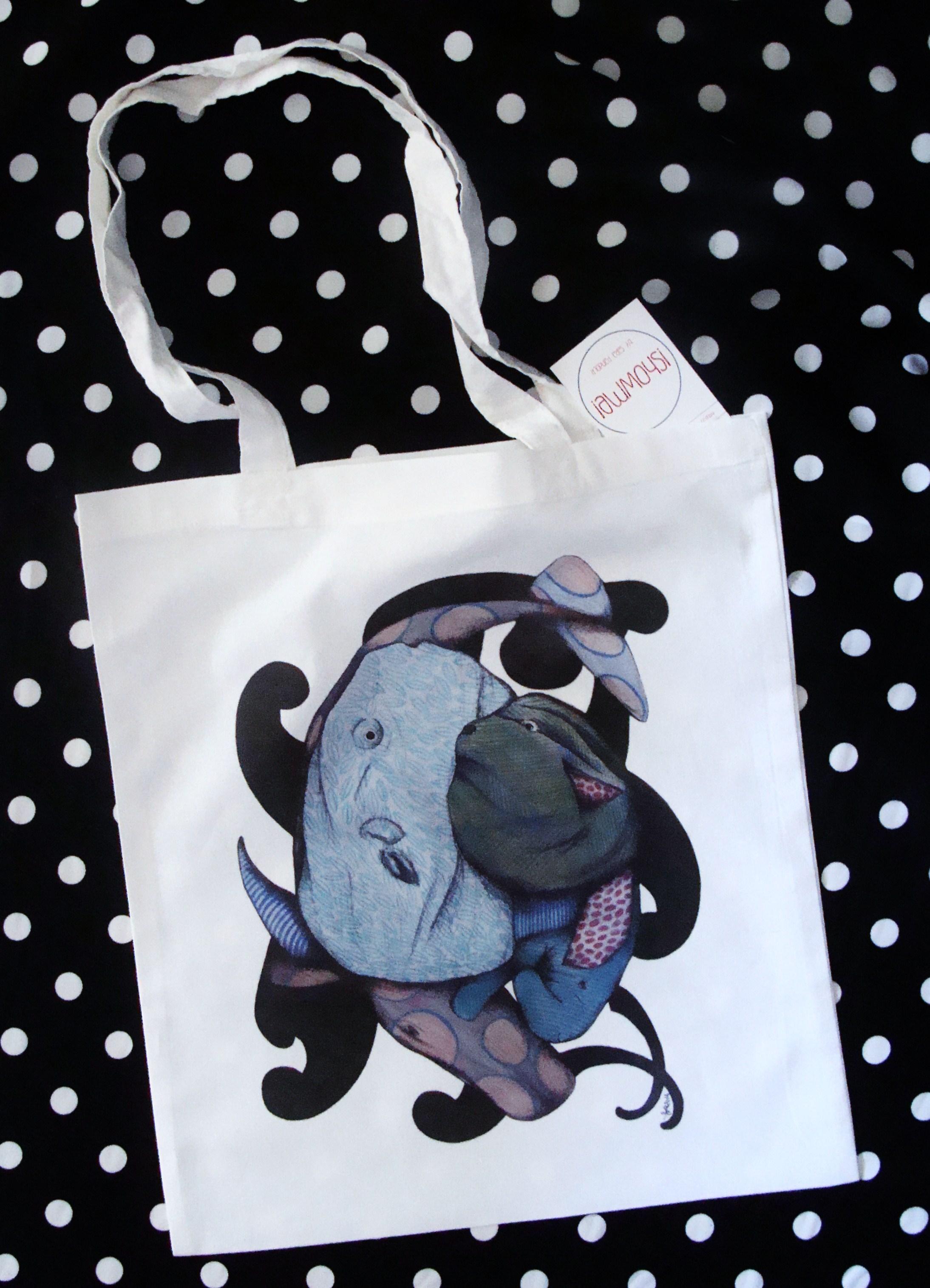 Shopper  bianca in cotone Serie Camuffi
